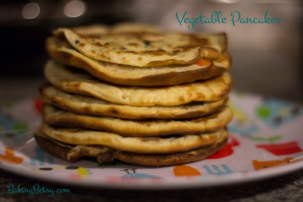 Vegetable pancakes, perfect for baby led weaning