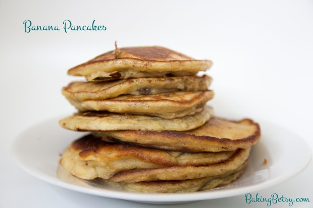 Banana pancakes - BakingBetsy.com