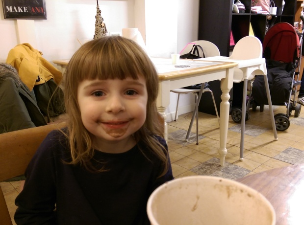 hot chocolate face