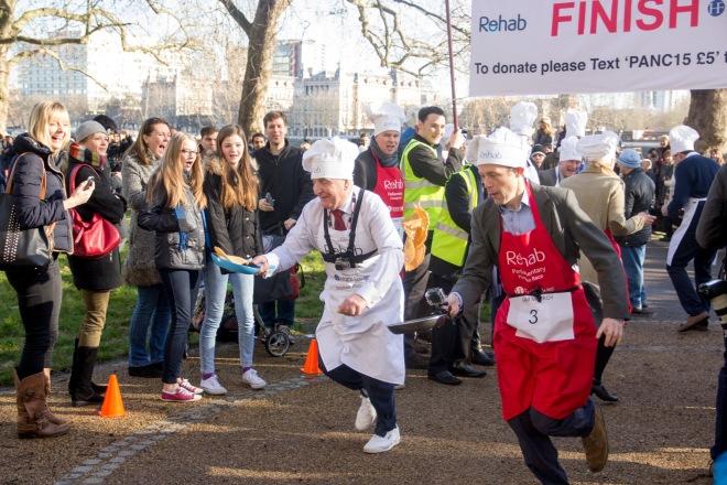 Parliamentary pancake race 2015
