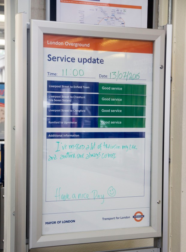 Little Loves - Enfield Overground sign