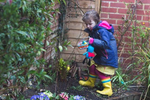 Living Arrows - Easter egg hunt in the back garden