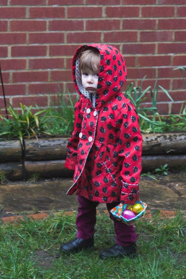 Living Arrows - Easter egg hunt in the back garden