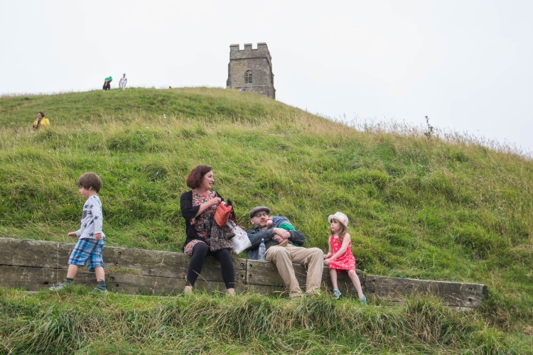 Exploring Glastonbury Tor with children