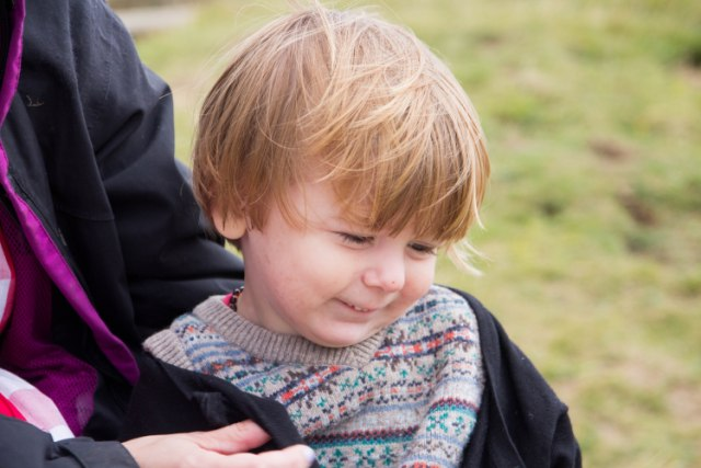 Exploring Glastonbury Tor with children